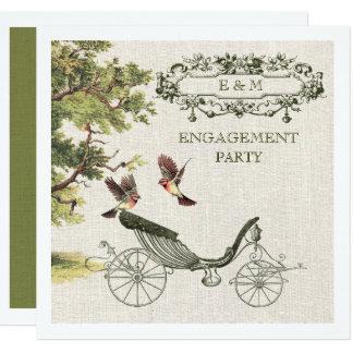 Invitaciones del fiesta de compromiso del diseño