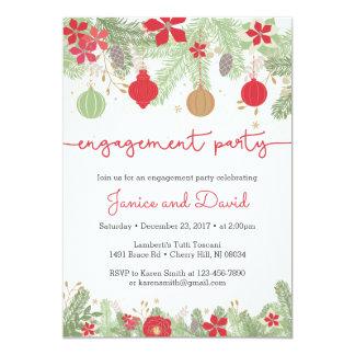 Invitaciones del fiesta de compromiso del navidad