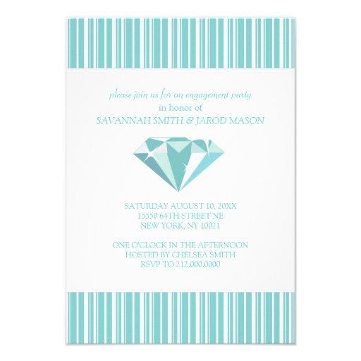 Invitaciones del fiesta de compromiso (trullo) comunicado personalizado