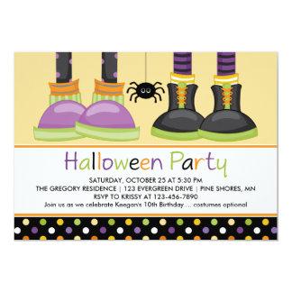 Invitaciones del fiesta de Halloween de los pies