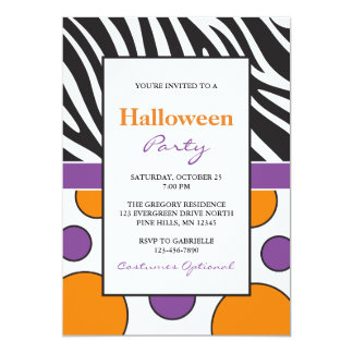 Invitaciones del fiesta de Halloween de los puntos