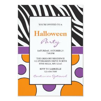 Invitaciones del fiesta de Halloween de los puntos Invitación 12,7 X 17,8 Cm