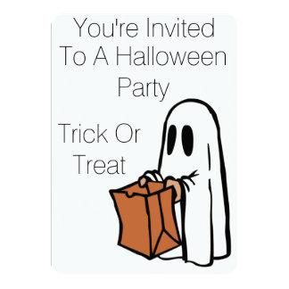 Invitaciones del fiesta de Halloween del fantasma Invitación 12,7 X 17,8 Cm
