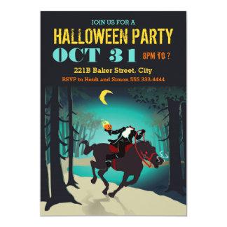 Invitaciones del fiesta de Halloween del jinete