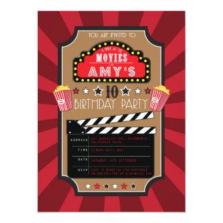 Invitaciones del fiesta de Hollywood de las Invitación 13,9 X 19,0 Cm