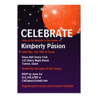 Invitaciones del fiesta de la bola de discoteca invitaciones personales