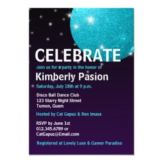 Invitaciones del fiesta de la bola de discoteca invitacion personal