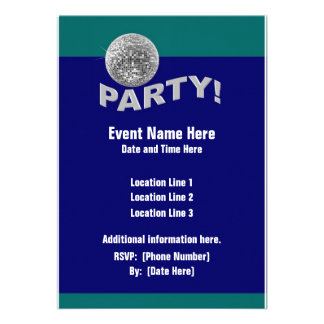 Invitaciones del fiesta de la bola de discoteca invitacion personalizada