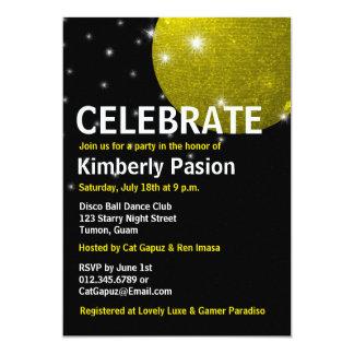 Invitaciones del fiesta de la bola de discoteca comunicados
