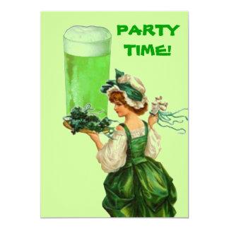 Invitaciones del fiesta de la cerveza del verde invitación 12,7 x 17,8 cm