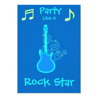 Invitaciones del fiesta de la estrella del rock comunicado personal