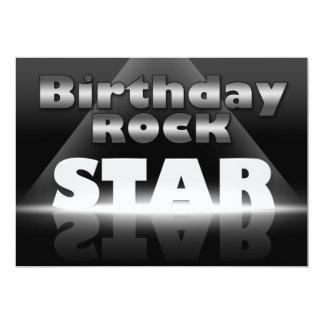 Invitaciones del fiesta de la estrella del rock invitación 12,7 x 17,8 cm