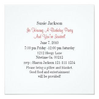 Invitaciones del fiesta de la mariquita invitación 13,3 cm x 13,3cm