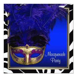 Invitaciones del fiesta de la mascarada de la invitación 13,3 cm x 13,3cm