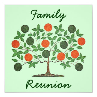 Invitaciones del fiesta de la reunión del árbol de invitación 13,3 cm x 13,3cm