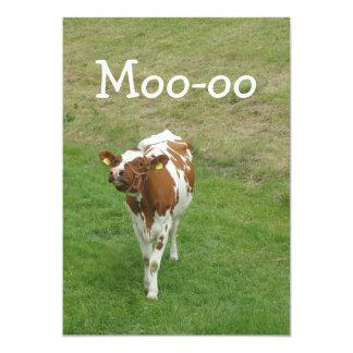 Invitaciones del fiesta de la vaca invitación 12,7 x 17,8 cm
