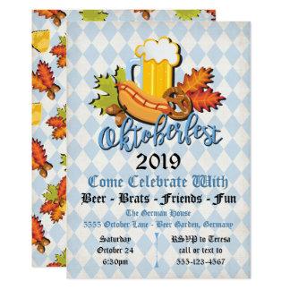 Invitaciones del fiesta de las hojas de la caída invitación 12,7 x 17,8 cm
