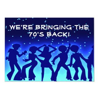 Invitaciones del fiesta de los años 70 del tema invitación 12,7 x 17,8 cm