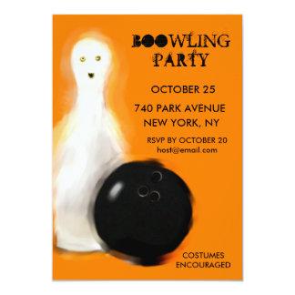 Invitaciones del fiesta de los bolos de Halloween