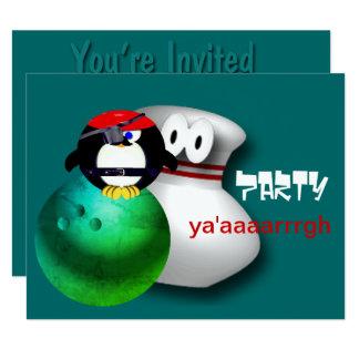 Invitaciones del fiesta de los bolos del pirata