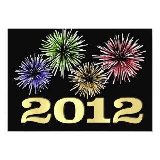 Invitaciones del fiesta de Noche Vieja - 2012 Invitación 12,7 X 17,8 Cm