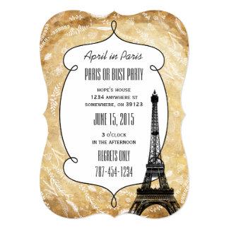 Invitaciones del fiesta de París o del busto Anuncios Personalizados