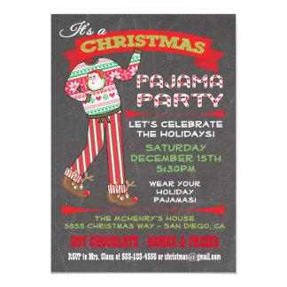 Invitaciones del fiesta de pijama del navidad de invitación 12,7 x 17,8 cm
