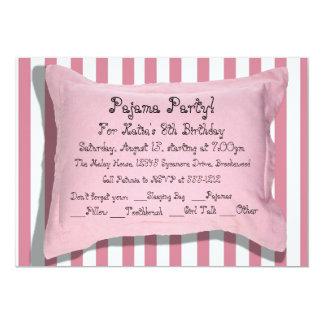 Invitaciones del fiesta de pijama invitación 12,7 x 17,8 cm