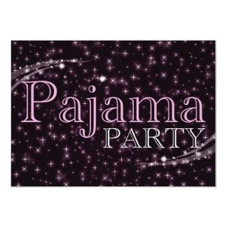 invitaciones del fiesta de pijama: starshine invitación 12,7 x 17,8 cm