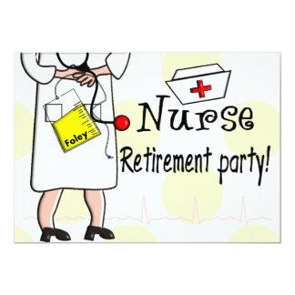Invitaciones del fiesta de retiro de la enfermera invitación 12,7 x 17,8 cm