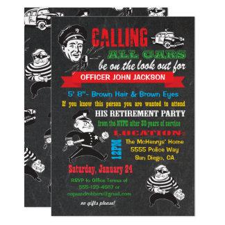 Invitaciones del fiesta de retiro de la policía de