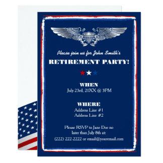 Invitaciones del fiesta de retiro para la fuerza