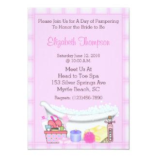 Invitaciones del fiesta del balneario invitación 12,7 x 17,8 cm