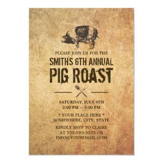 Invitaciones del fiesta del Bbq de la carne asada Invitación 12,7 X 17,8 Cm