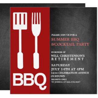 Invitaciones del fiesta del Bbq del verano