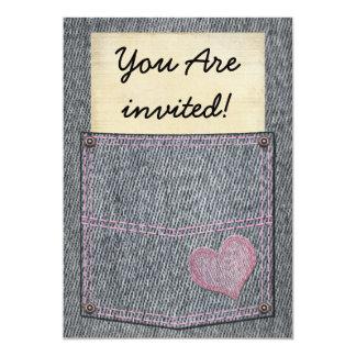 Invitaciones del fiesta del bolsillo de los invitación 12,7 x 17,8 cm