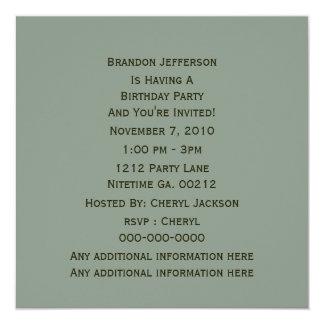 Invitaciones del fiesta del camuflaje invitación 13,3 cm x 13,3cm