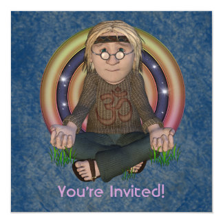 Invitaciones del fiesta del cuadrado de los años invitación 13,3 cm x 13,3cm