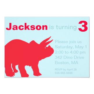 Invitaciones del fiesta del dinosaurio de los invitación 12,7 x 17,8 cm