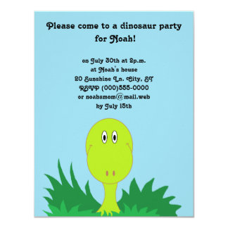 """Invitaciones del fiesta del """"dinosaurio"""" invitación 10,8 x 13,9 cm"""