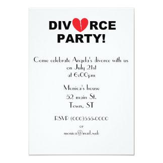 """""""Invitaciones del fiesta del divorcio"""" Invitación 12,7 X 17,8 Cm"""