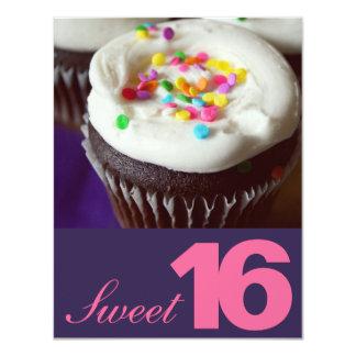 Invitaciones del fiesta del dulce dieciséis invitación 10,8 x 13,9 cm