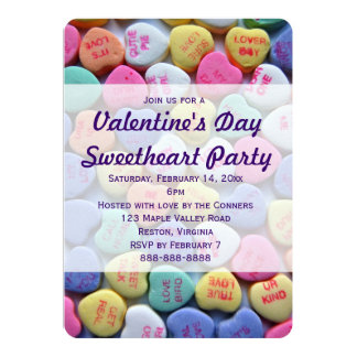 Invitaciones del fiesta del el día de San Valentín Invitación 12,7 X 17,8 Cm