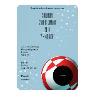 Invitaciones del fiesta del fútbol para los invitación 12,7 x 17,8 cm