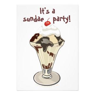 Invitaciones del fiesta del helado del helado (dul anuncio personalizado