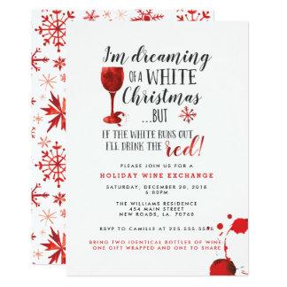 Invitaciones del fiesta del intercambio del vino