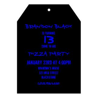 Invitaciones del fiesta del negro del adolescente