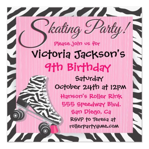Roller Skate Party Invitations Free Printable with luxury invitations example