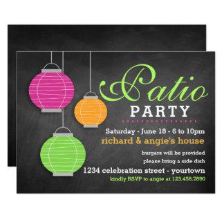 Invitaciones del fiesta del patio del verano
