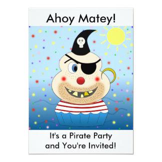 Invitaciones del fiesta del pirata invitacion personal